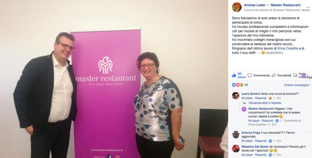 master restaurant opinioni recensioni corsi per ristoratori andrea leder