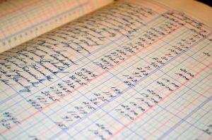 foto di registri per la contabilità di un ristorante