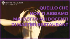 Docenti Master Restaurant